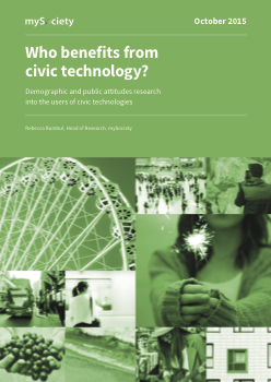 Who Benefits From Civic Technology?
