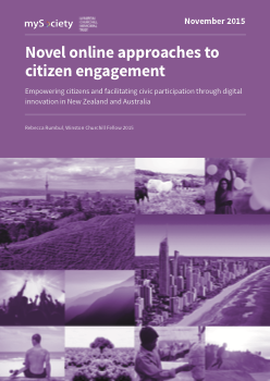Novel online approaches to citizen engagement