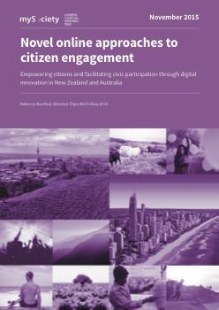 Novel online approaches to citizen engagement